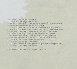 """Extrait de la jaquette du disque """"Como gato y perro"""""""