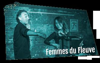 Logo du spectacle de contes et musique Femmes du Fleuve